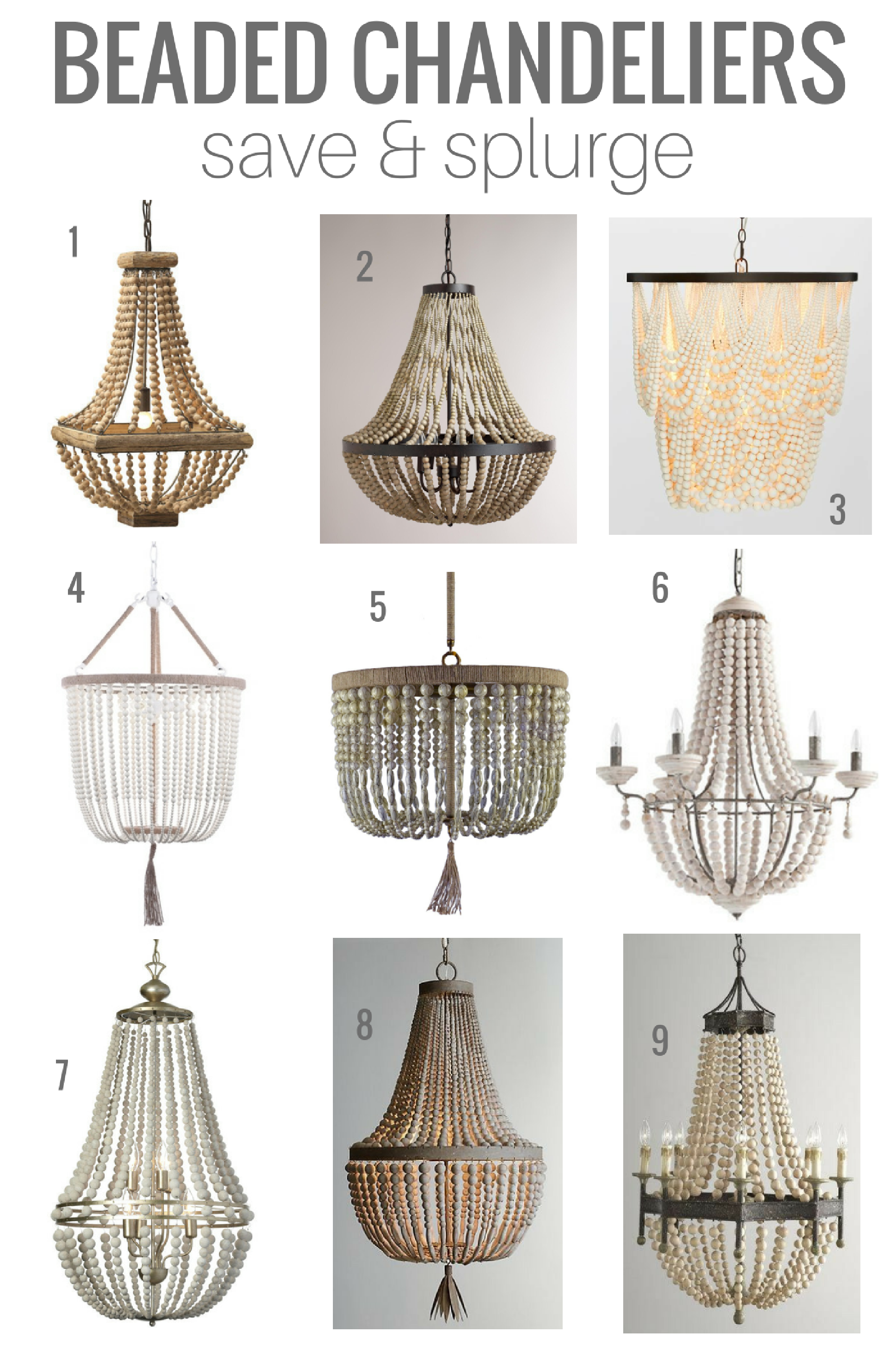 Beaded chandeliers invaluable lighting lessons pinterest have your eye on beaded chandeliers ive rounded up some of my favourite save and splurge options come check out which one i picked for our dining room aloadofball Images