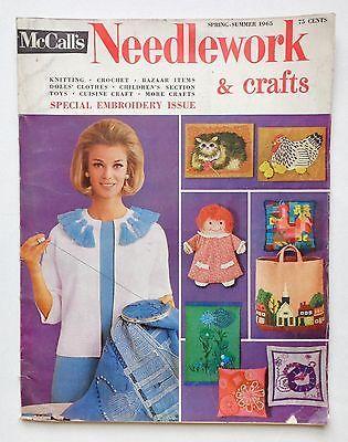Vintage Mccalls Needlework Crafts Magazine Spring Summer 1965