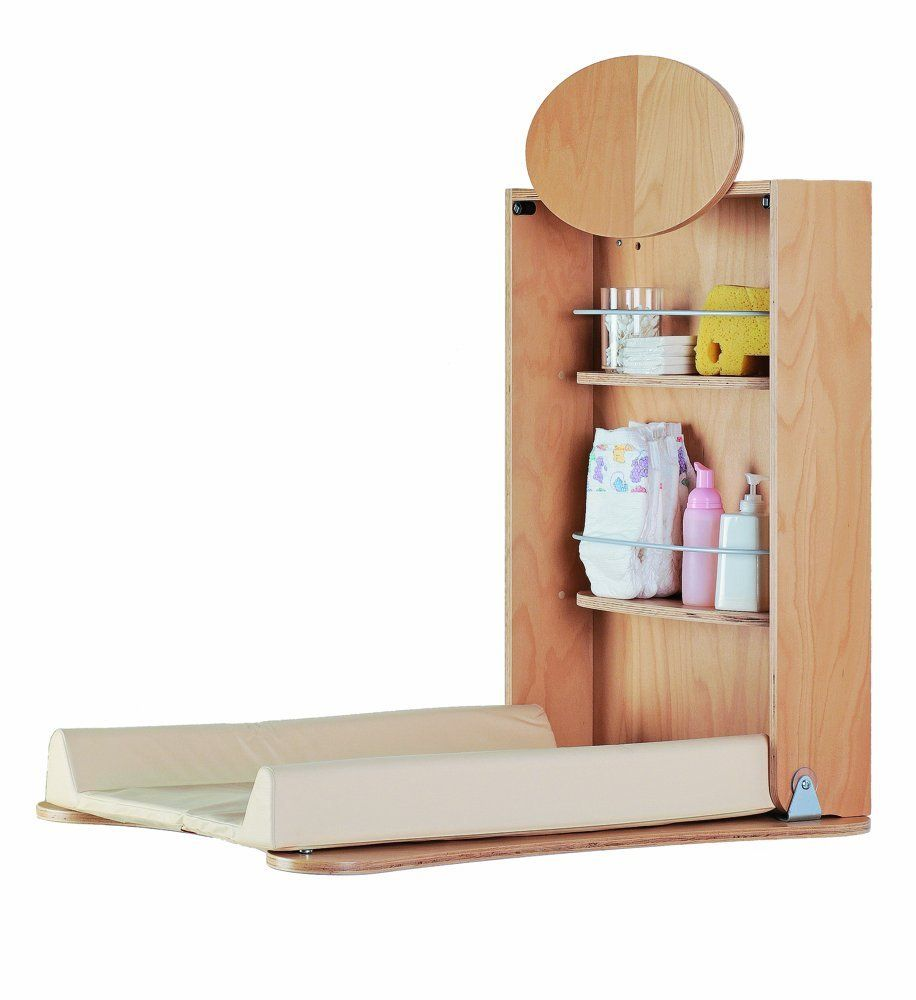 Foppapedretti Pratiko Wall Mounted Changing Table (Natural): Amazon.co.uk: