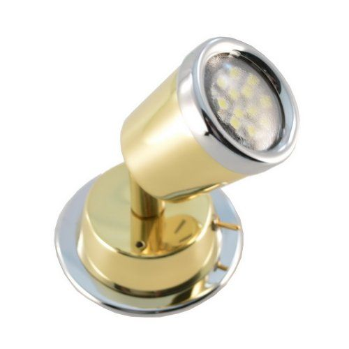 12 Volt Warm White Led Reading Light Brass W Chrome Tappered Leds For Recreational Vehicles Http Www Amazon Com D Led Reading Light Reading Light White Lead