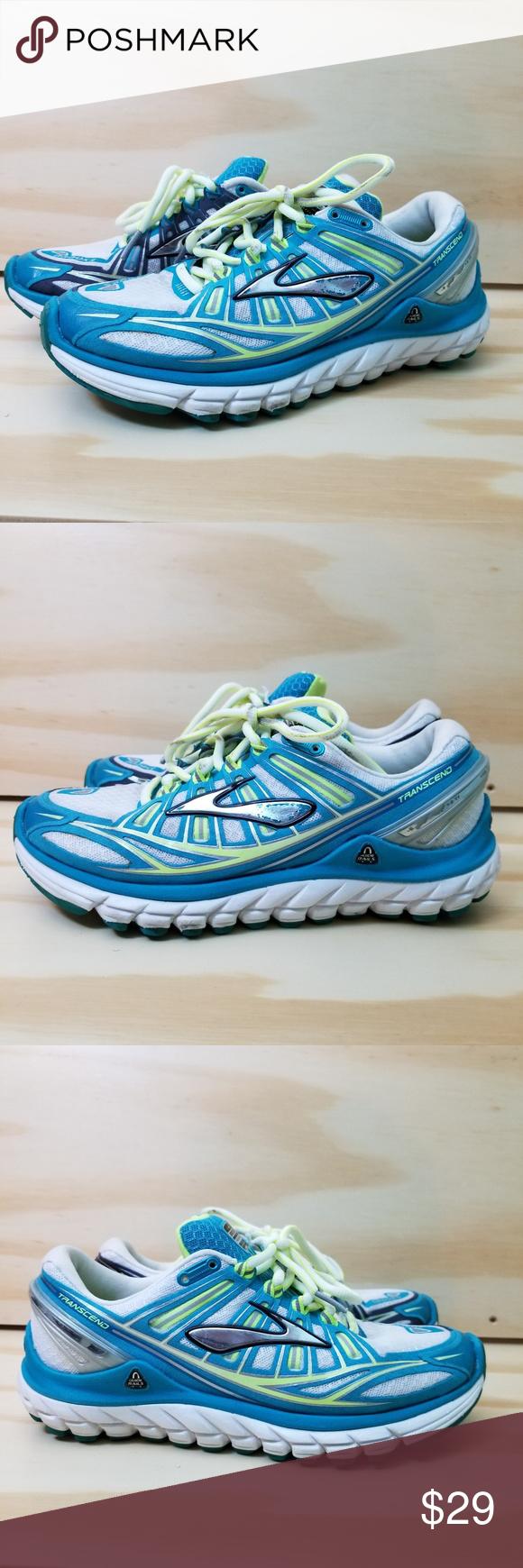 a8d5767399af Brooks Trancend Running Shoes Size 6 Brooks Trancend Running Shoes Size 6  Blue White Laces Mesh