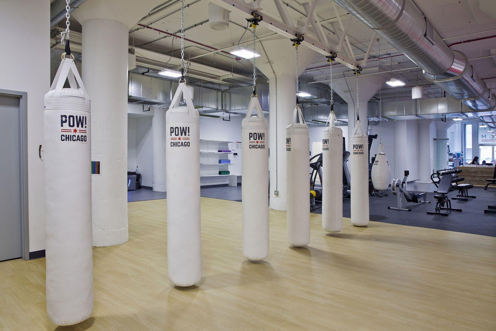 Pow Kick Boxing Area Boxing Gym Design Boxing Gym Functional Training Gym