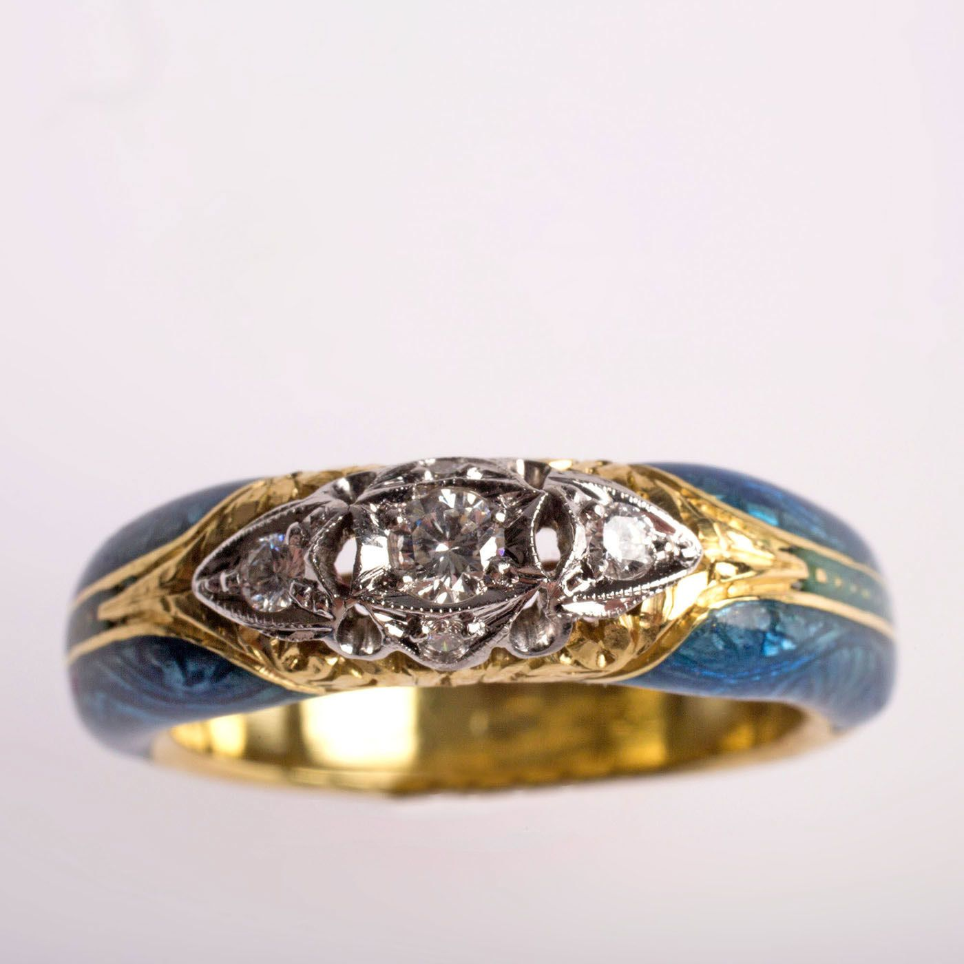 Venezia Blu Ring - Shop rings from Italy's Best Artisans: fine jewelry handcrafted in Italy - Fine Jewelry from Italy's Best Artisans - Artemest