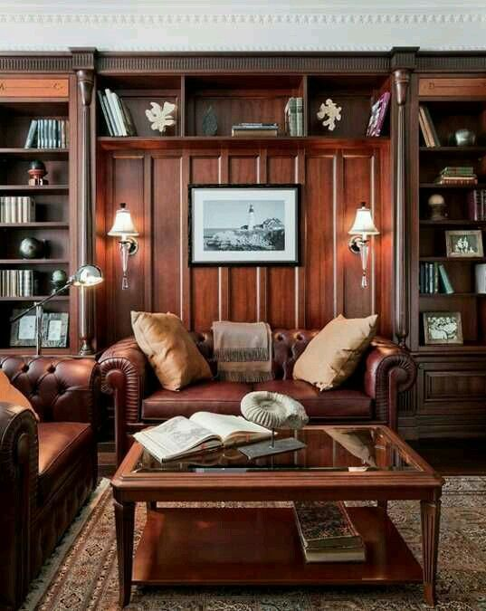 Study Vintage Home Offices Masculine Interior Design Home Office Design