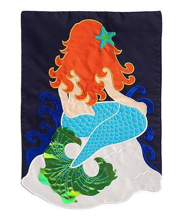 Look at this #zulilyfind! Mermaid Outdoor Flag #zulilyfinds ...