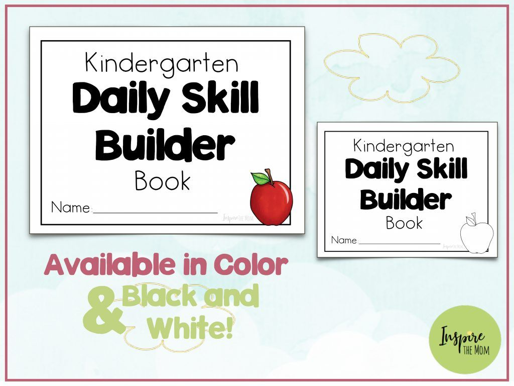 Kindergarten Daily Skill Builder Notebook