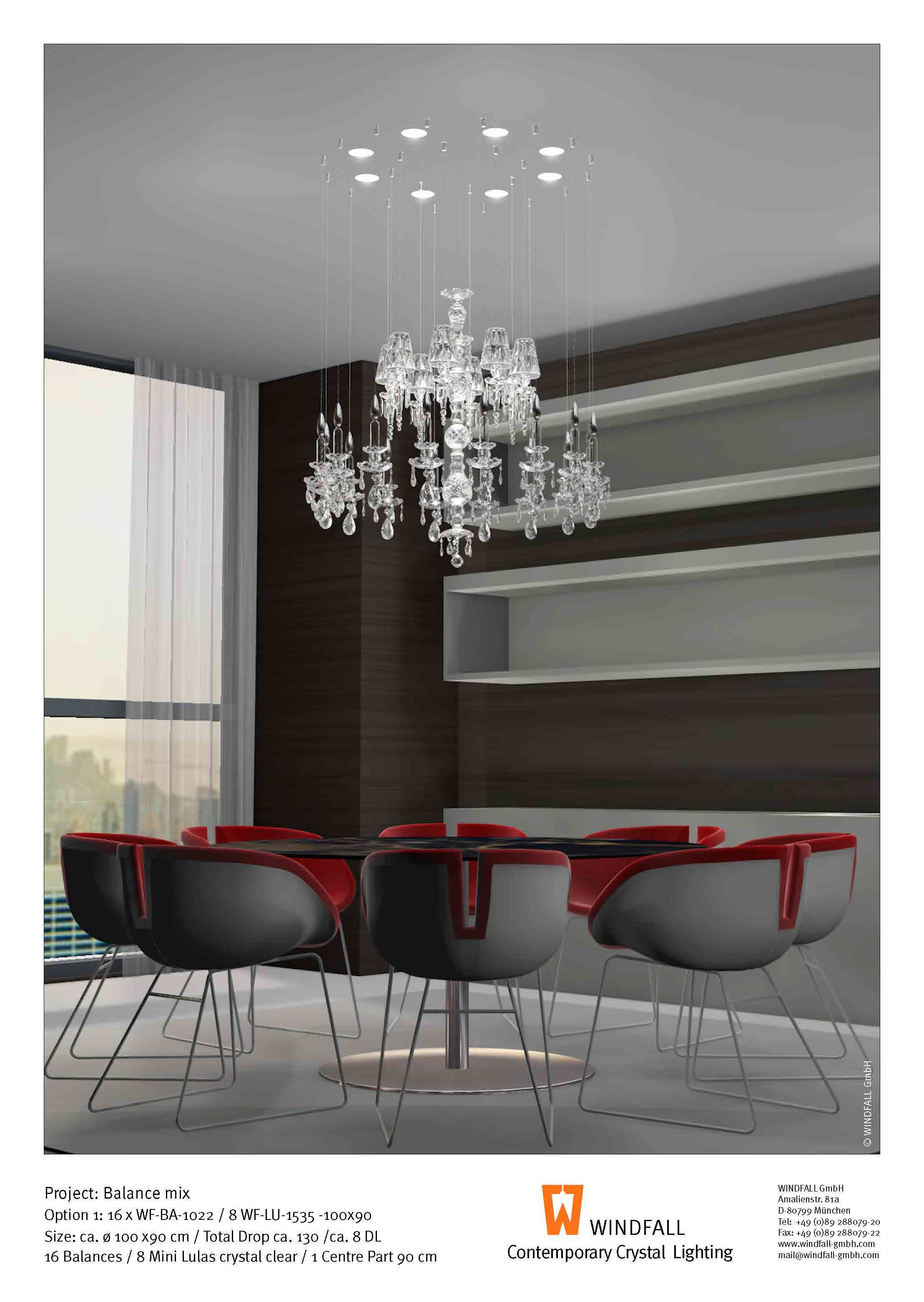 Balance Lula Mini Combination By Windfall Chandeliers