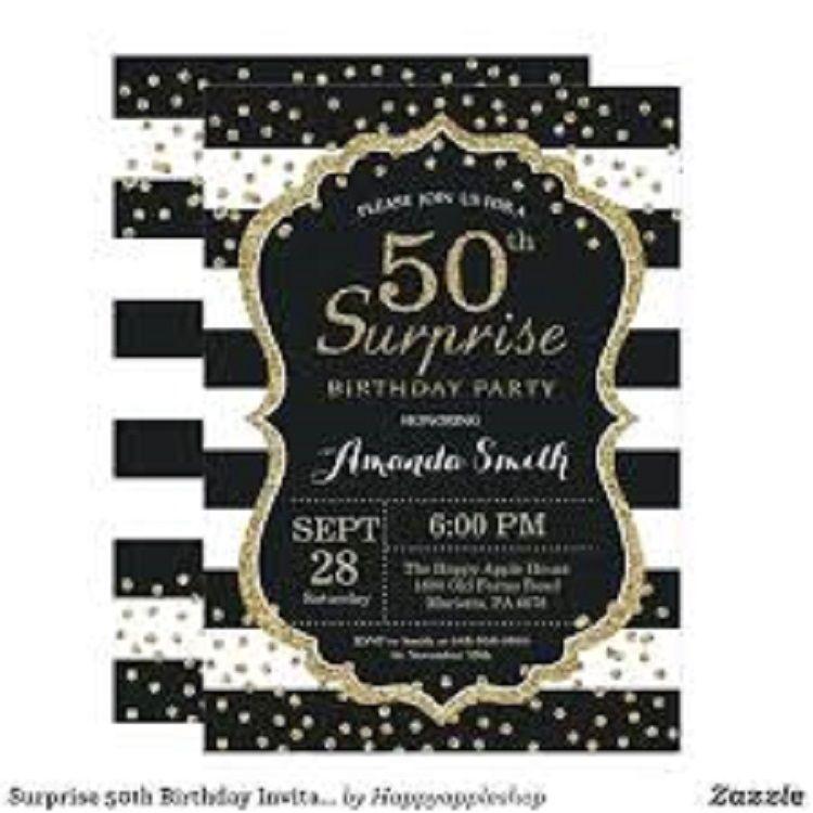 50th Birthday Invitations Quotes