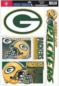 GREEN BAY PACKERS NFL LICENSED DECAL SHEET