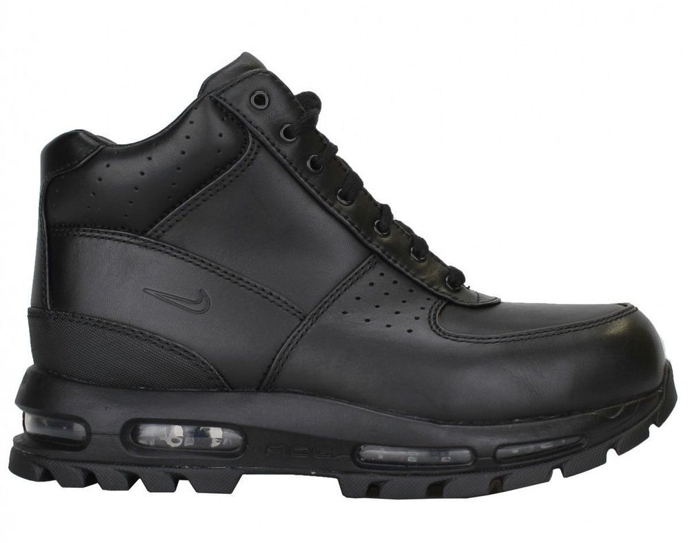 New Nike Mens Air Max Goadome Leather ACG Boots 599474-050 Black Multiple  Size |