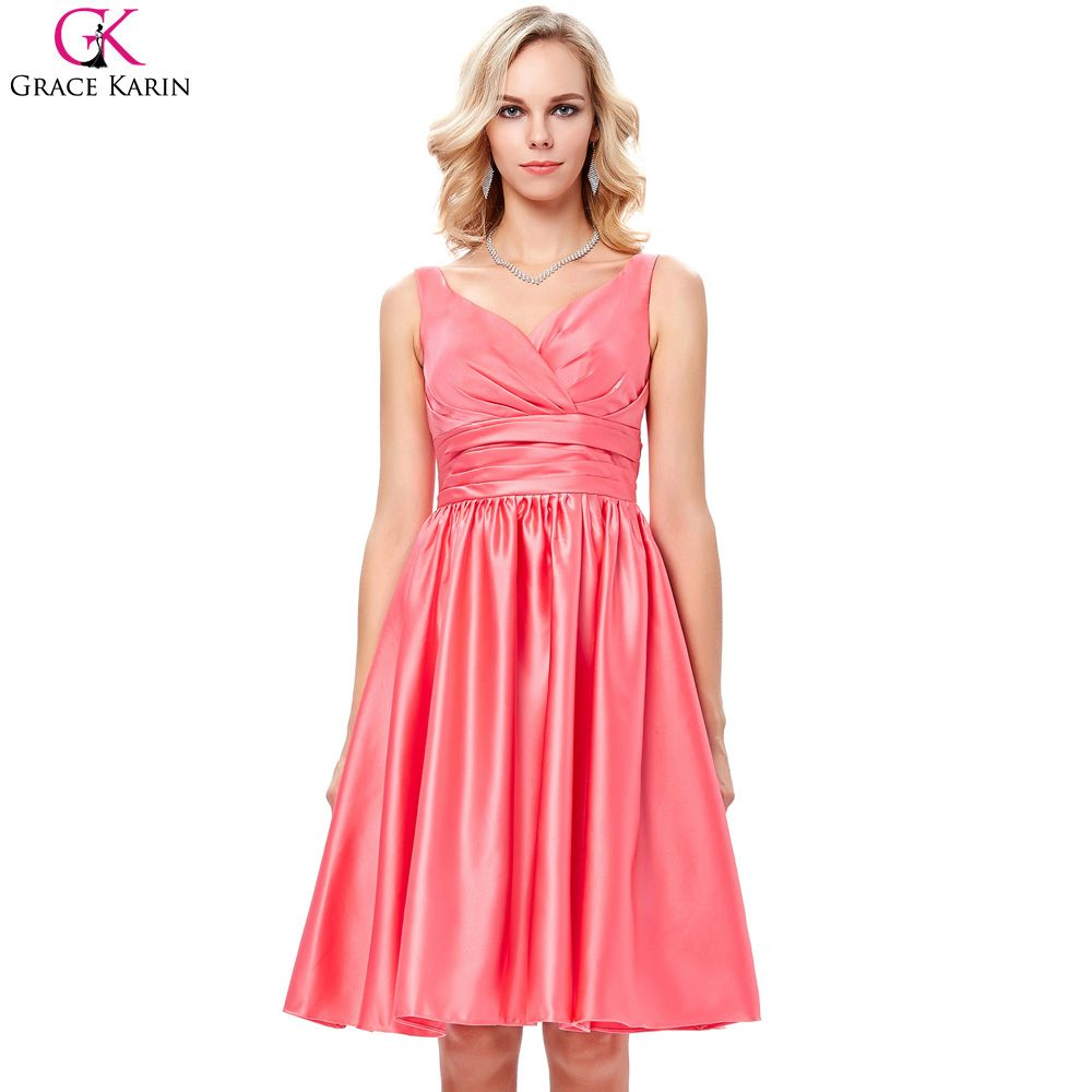 Click to buy ucuc grace karin coral bridesmaid dresses short