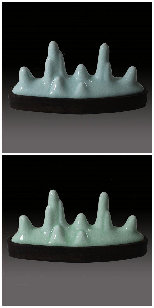 BG006 Hmay Ice Cracked Glaze Ceramic Brush Holder [BG006] - $39.00 : hmay rice paper manufacturer for calligraphy, brush painting&Chinese painting
