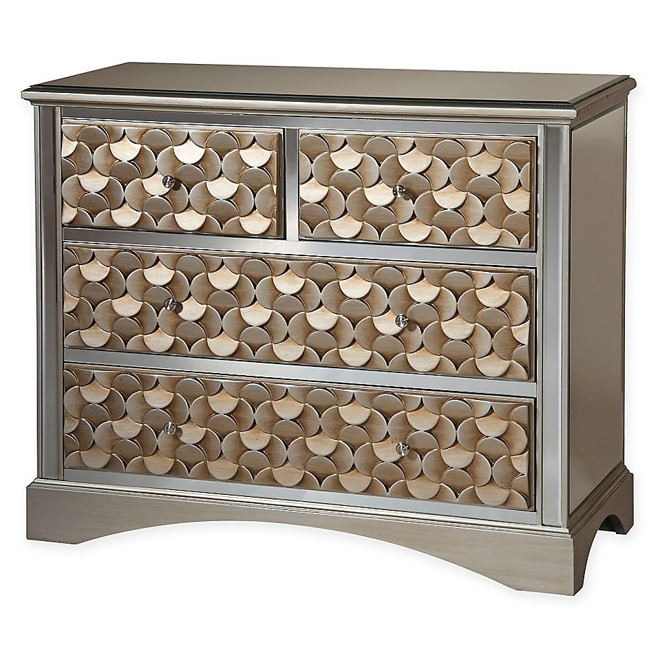Savona Accent Chest In Champagne Gold/silver