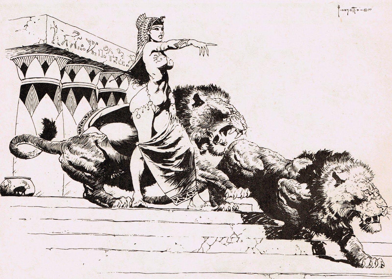 Cap\'n\'s Comics: Cleopatra by Frank Frazetta | Fantasy Drawings ...