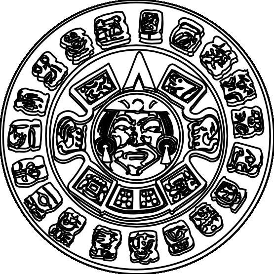 mayan calendar coloring page printable