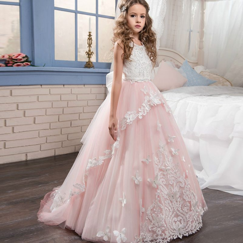 ddb272a25 2018 New Arrival Lace Flower Girls Dresses
