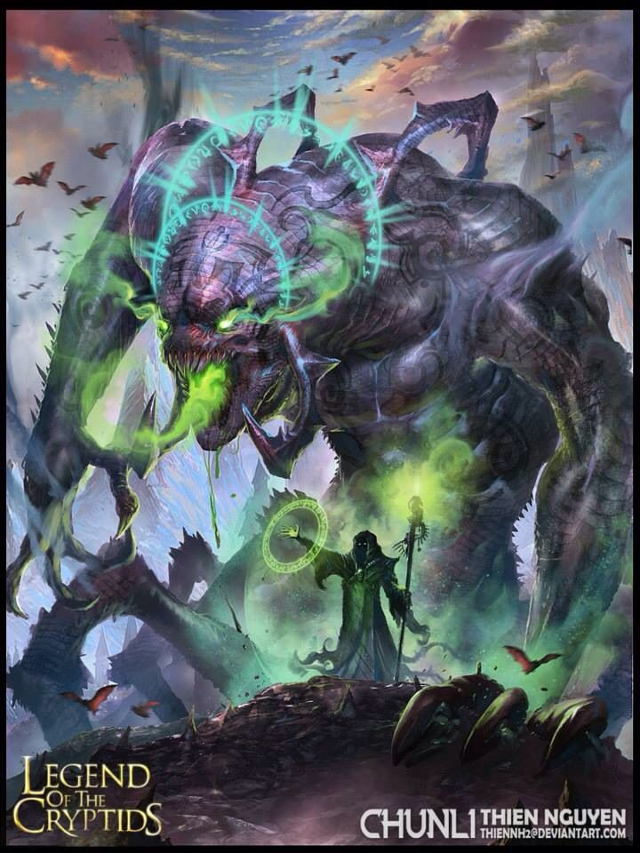 Monstruo armagedon legend of the cryptids