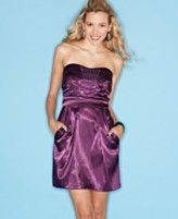 Trixxi Dress, Strapless Sweetheart Rhinestone Pleated A-Line  Orig. $79.00  Was $46.99  Now $22.99