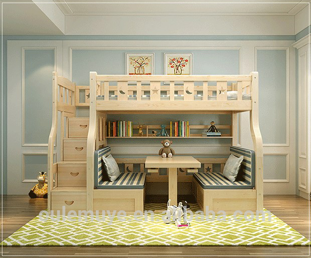 Letto A Castello Nuovo.2017 Nuovo Design In Legno Per Bambini Doppia Letti A Castello