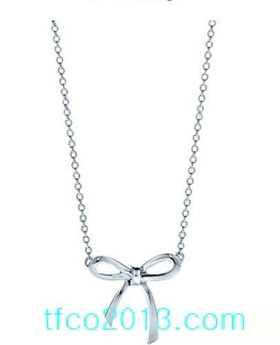 4813a5baea0b Tiffany Jewelry Necklaces Delicate Transparent Silver Bow  tiffany co   Jewelry