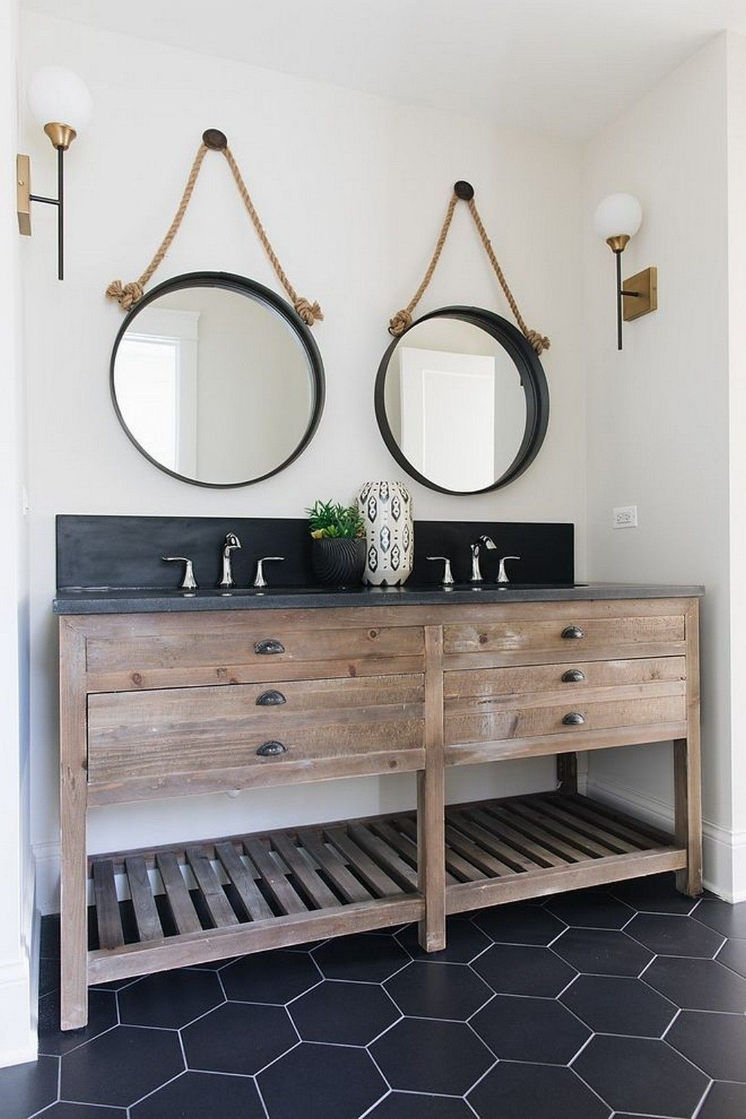 28 Farmhouse Decorations Style to Upgrade Your Bathroom ...
