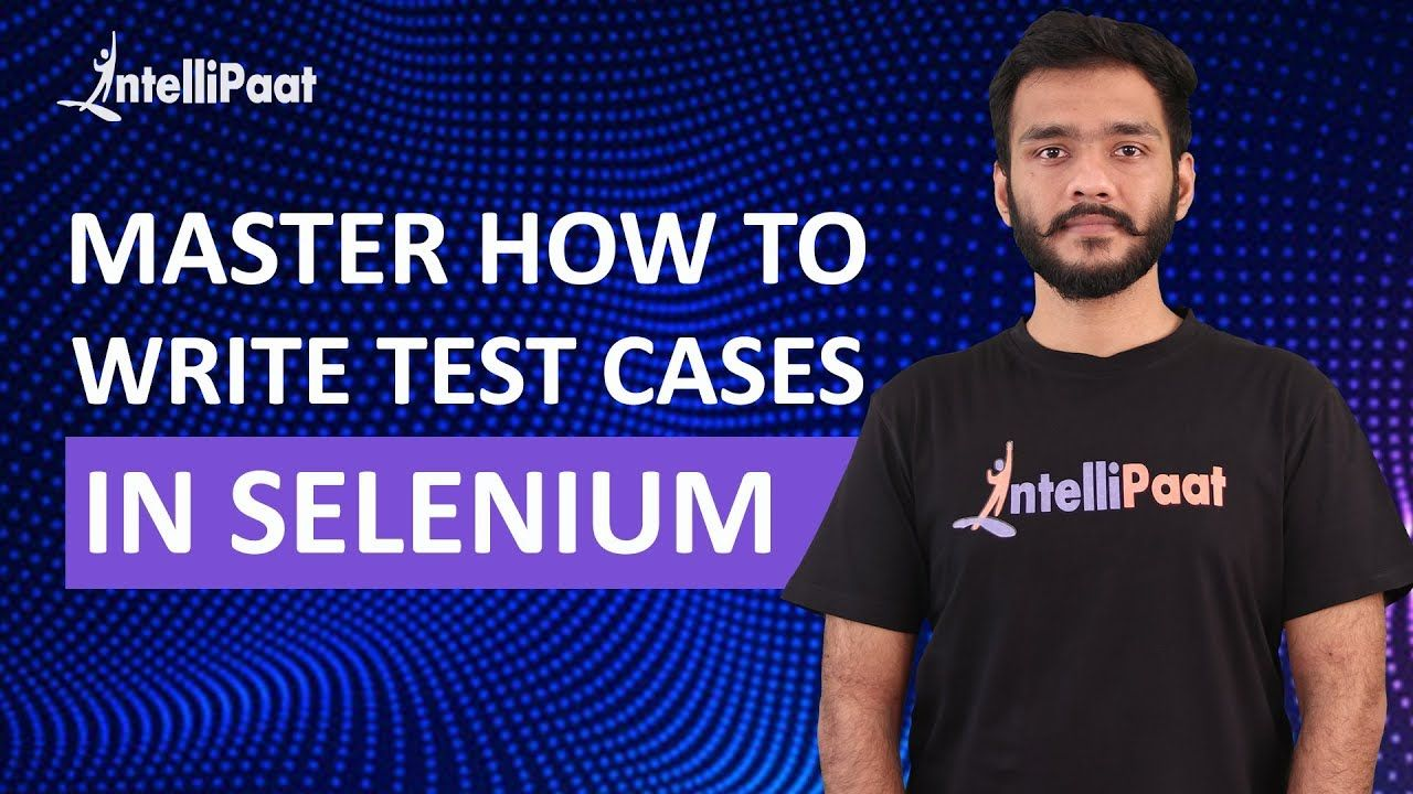 In this video you will learn how to write run a test