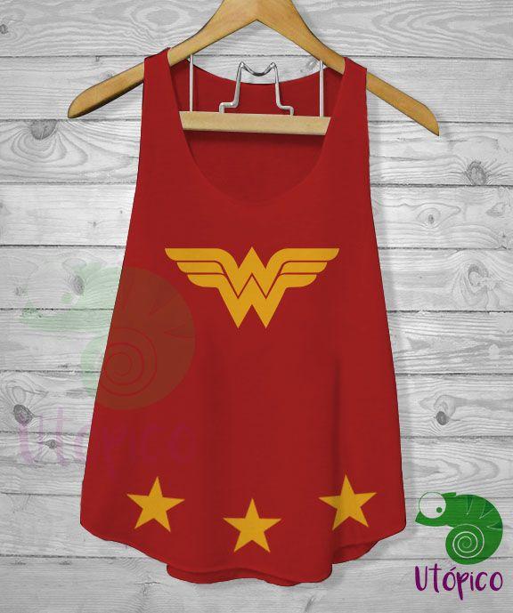 Camiseta Mujer Maravilla  WonderWoman  Tshirt  Utopico  deb070022e0