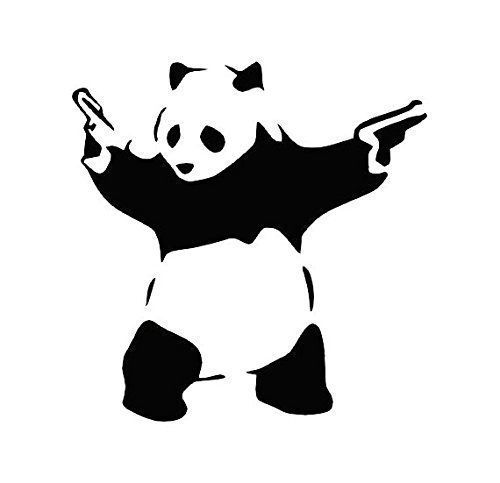 $2.60 Panda with Guns Decal http://amzn.to/2EssoVd #decal #sticker #decals #stickers #gallery #5150 #vinyl #buynow #bear #polar #panda #pandabear #guns #weapon #funny