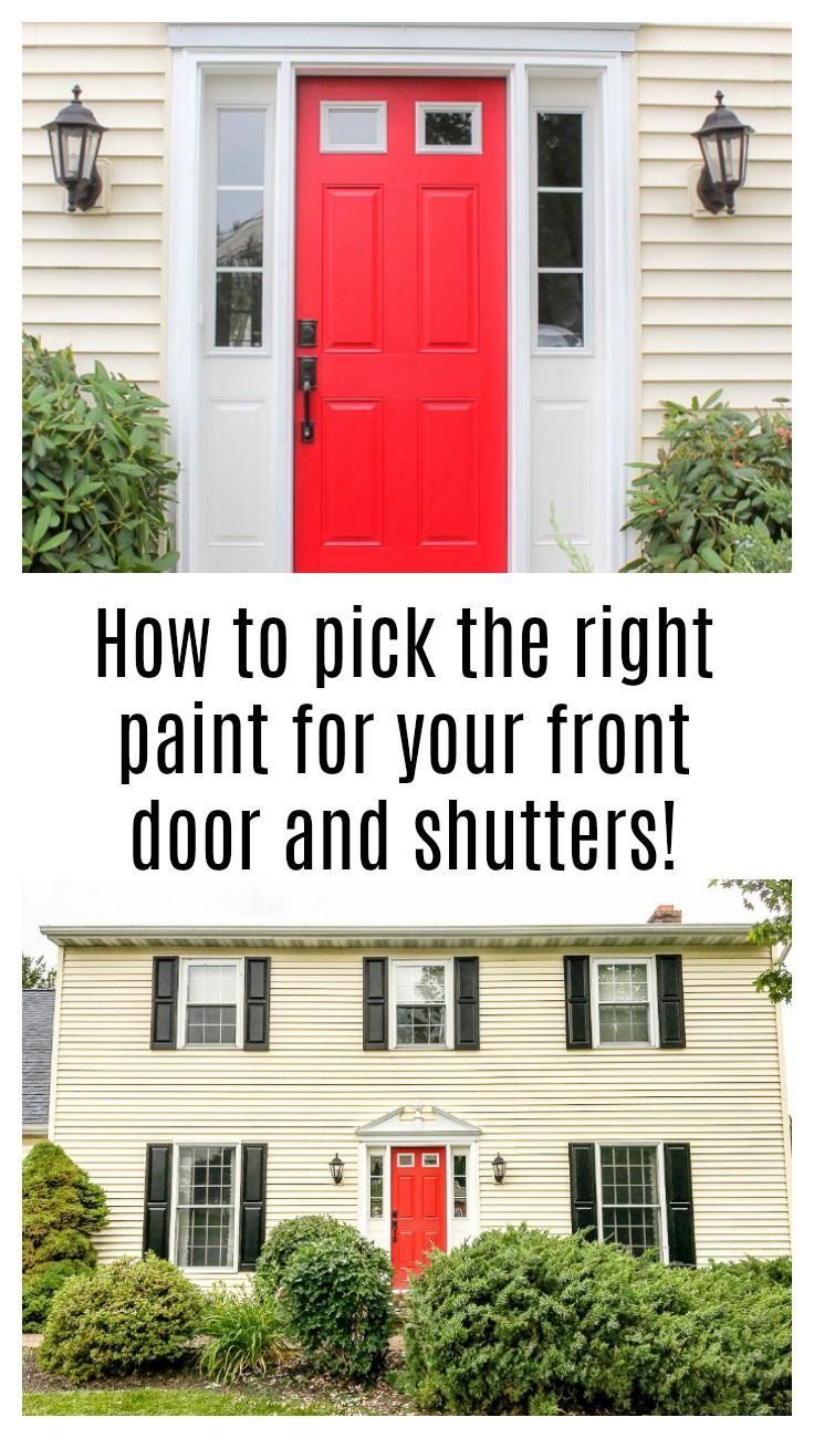 What Color To Paint Shutters And Front Door In 2020 Painting
