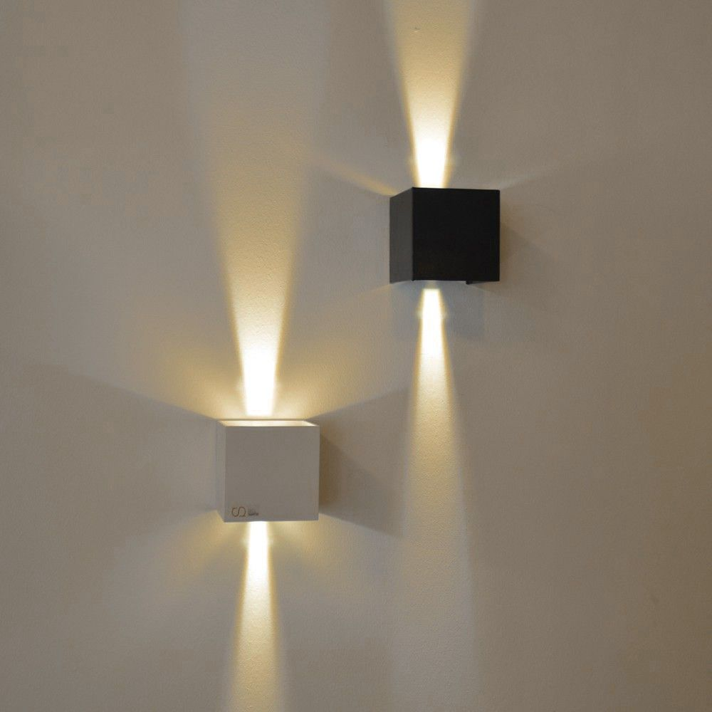 S Luce Pro Ixa Led Aussenwandlampe Mit Verstellbaren Winkel Ip44 Schwarz 54578 Aussenwandlampen Wandleuchte Led