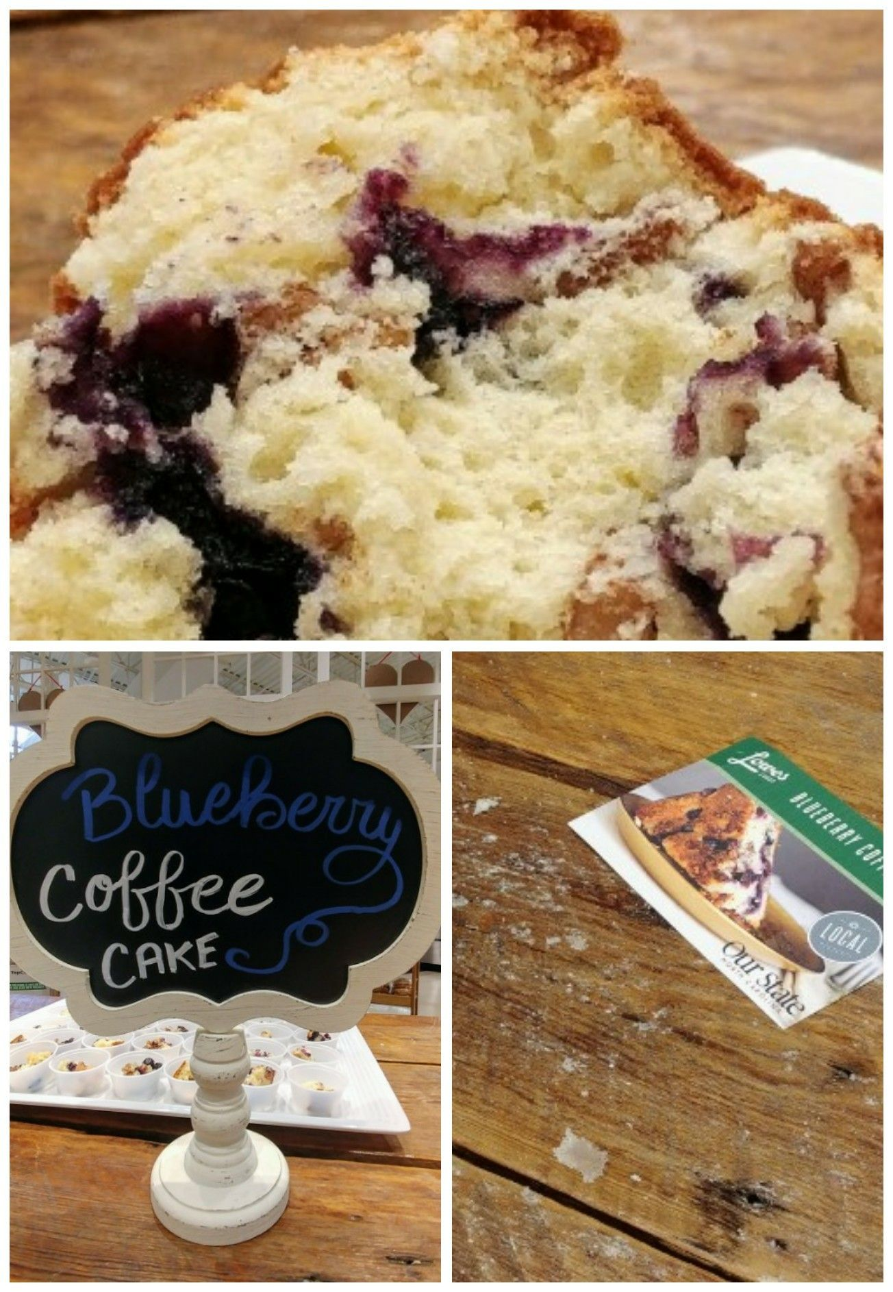 A messy table makes an amazing blueberry coffee cake