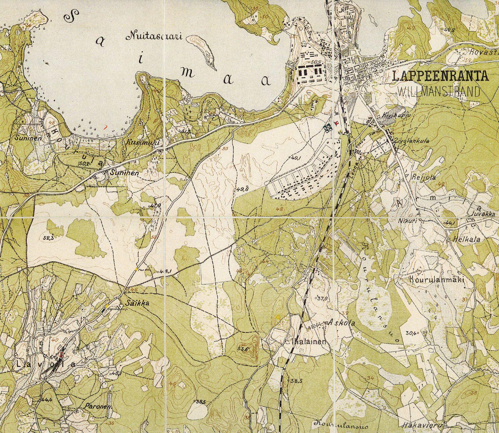 Old map Lappeenrantawilmanstrad Finland Maps Pinterest