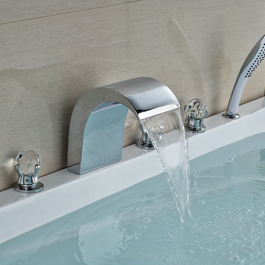 Wholesale And Retail Promotion Crystal Handles Waterfall Bathroom ...