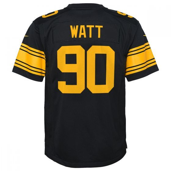3fae99065 Nike Men s T.j. Watt Pittsburgh Steelers Limited Color Rush Jersey - Black  XXL