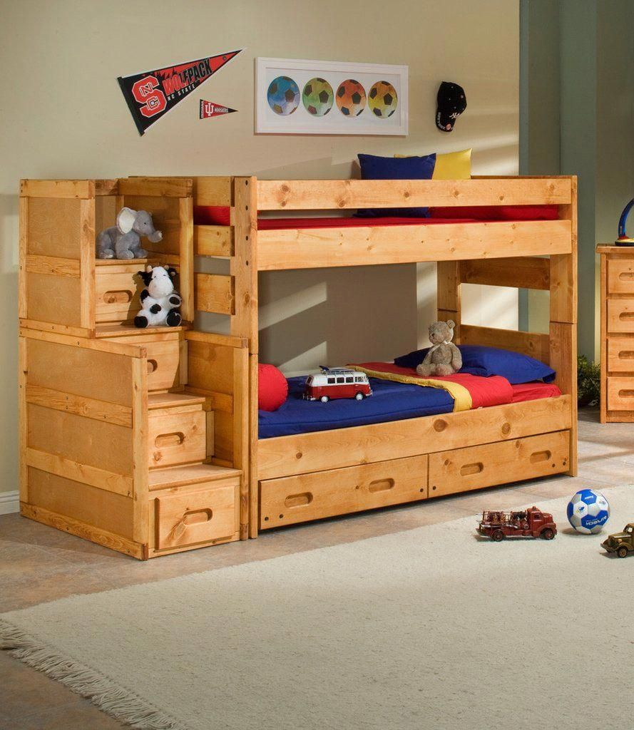 Twin Over Twin Bunkbed Bunk Bed Plans Twin Bunk Beds