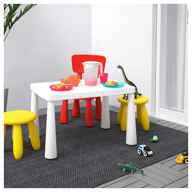 Children S Table Indoor Outdoor White 30 3 8x21 5 8 Kids