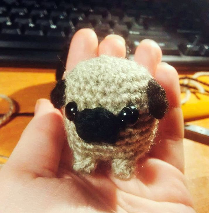 crochet #pug | Bichinhos de croche, Faça e venda artesanato ... | 730x714