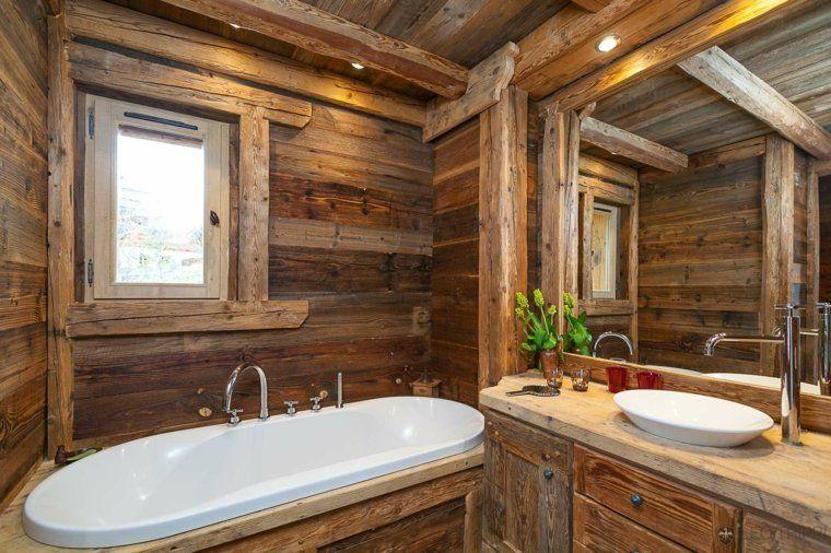 D coration int rieur chalet montagne 50 id es inspirantes chalet salle de bains et salle for Cuisine style montagnard