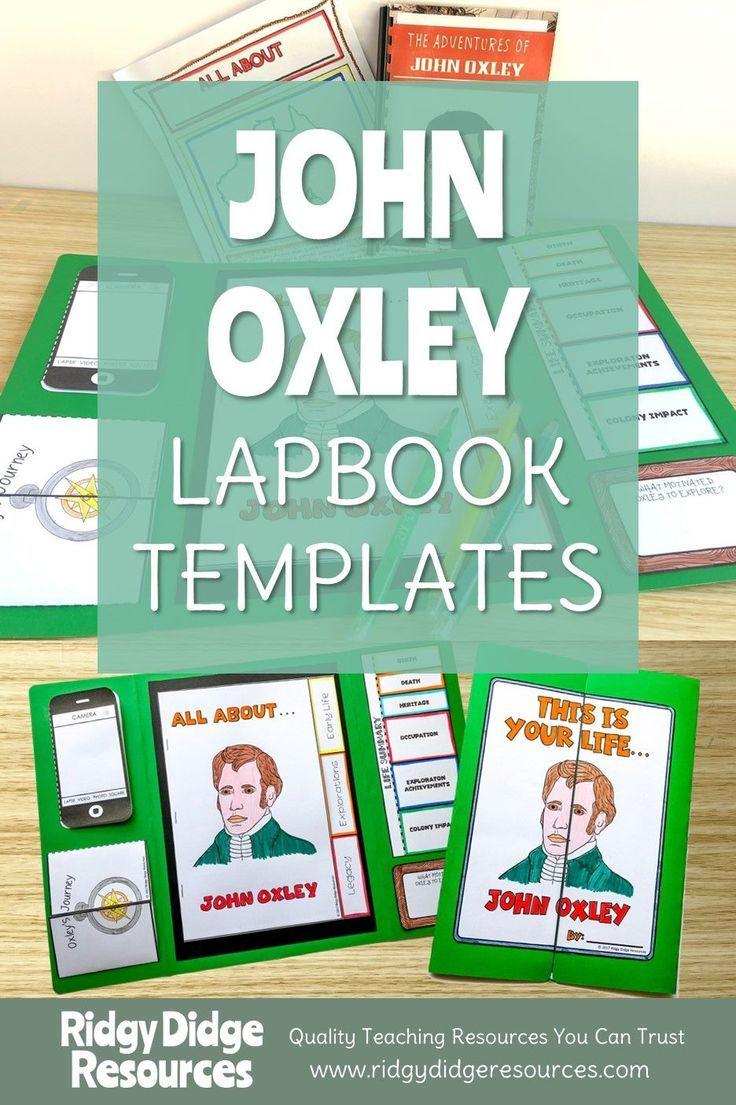 Australian Explorers Lapbook Series John Oxley Lap