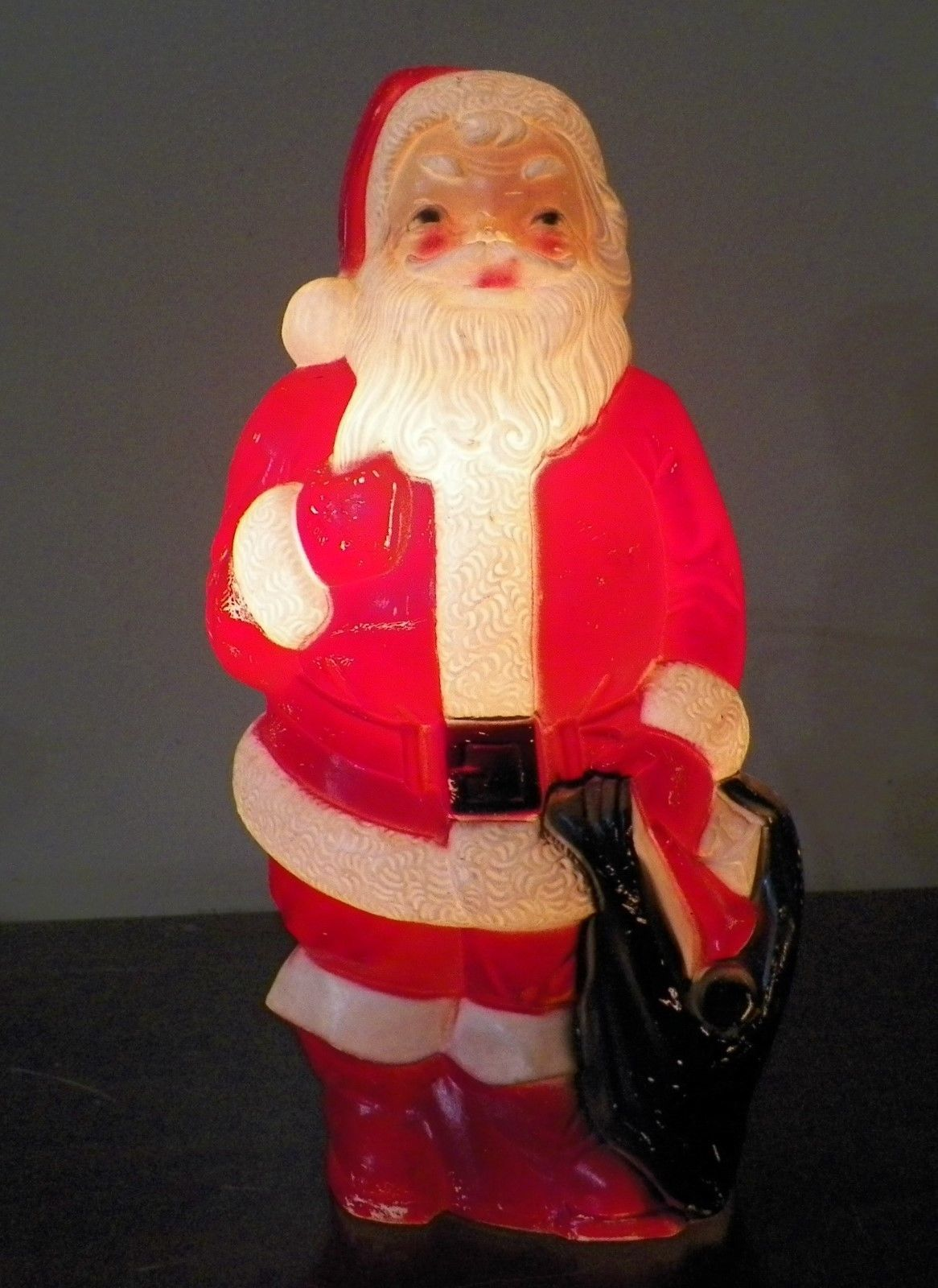 "Vintage 1968 Empire Plastic Blow Mold SANTA CLAUS Christmas 13"" W/New Cord 