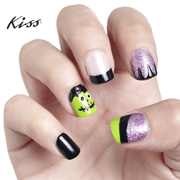 Halloween Is 2 Days Away Heres Some Nailspiration Use Kiss Nail