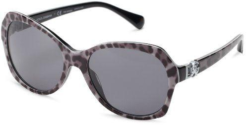 #saucy D&G Dolce & Gabbana 0DG4163P 265681 Polarized Butterfly Sunglasses,Lepopard/Grey,57 mm