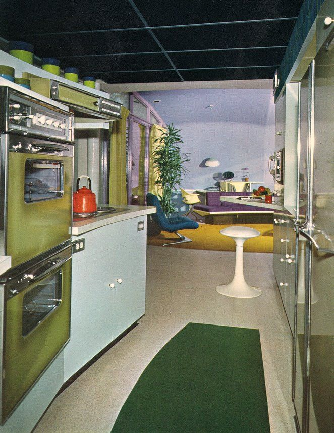 Age Home: Space Age 60's Interior Design.