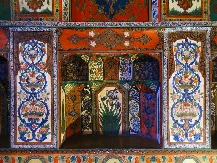 Azerbaijan Sheki Kahn S Palace Azerbaijan Rugs On Carpet Ancient