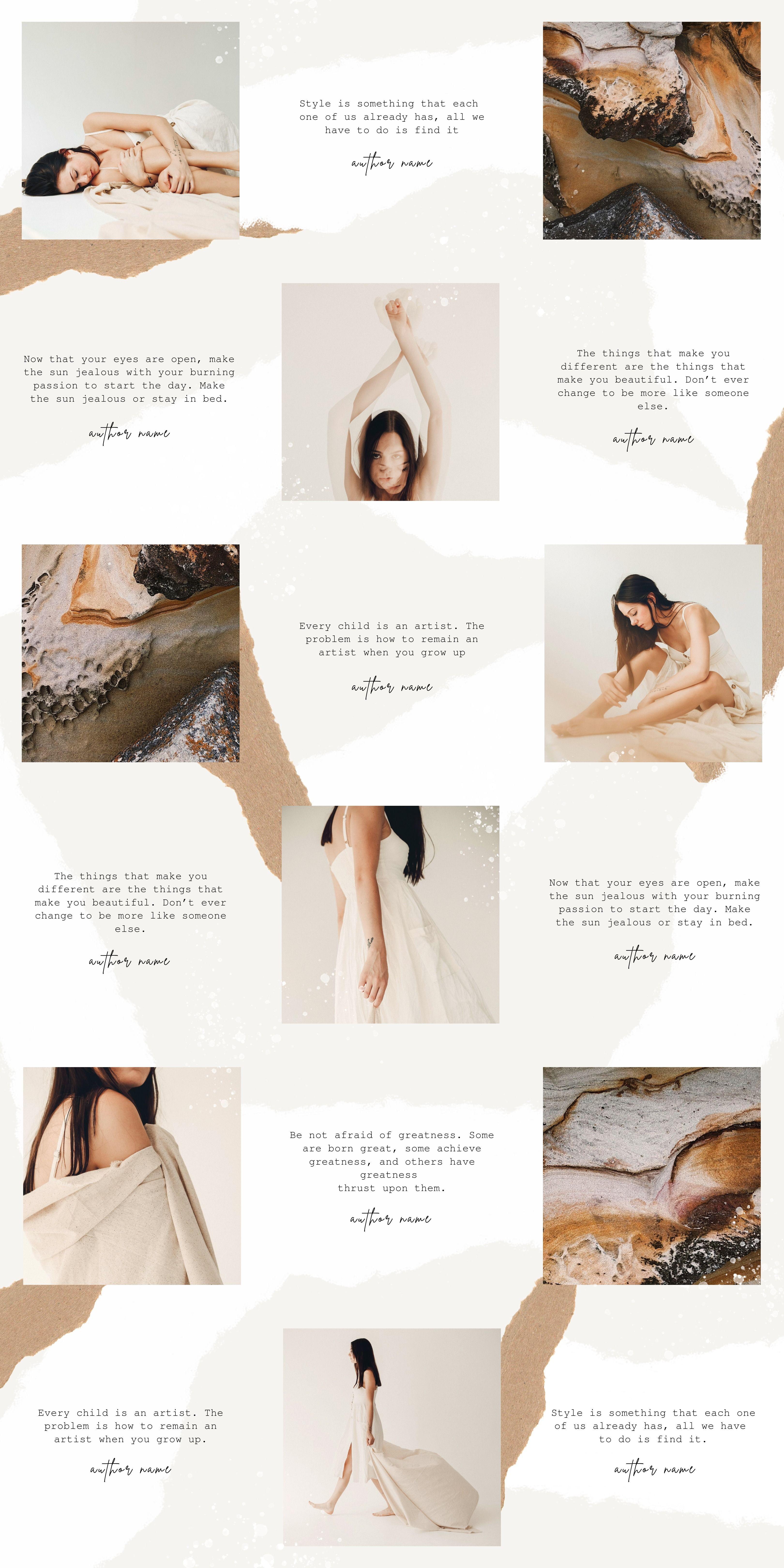 Thea Instagram Puzzle Canva Setka Dizajn Dizajn Dlya Firmennogo Stilya Dizajn Publikacii
