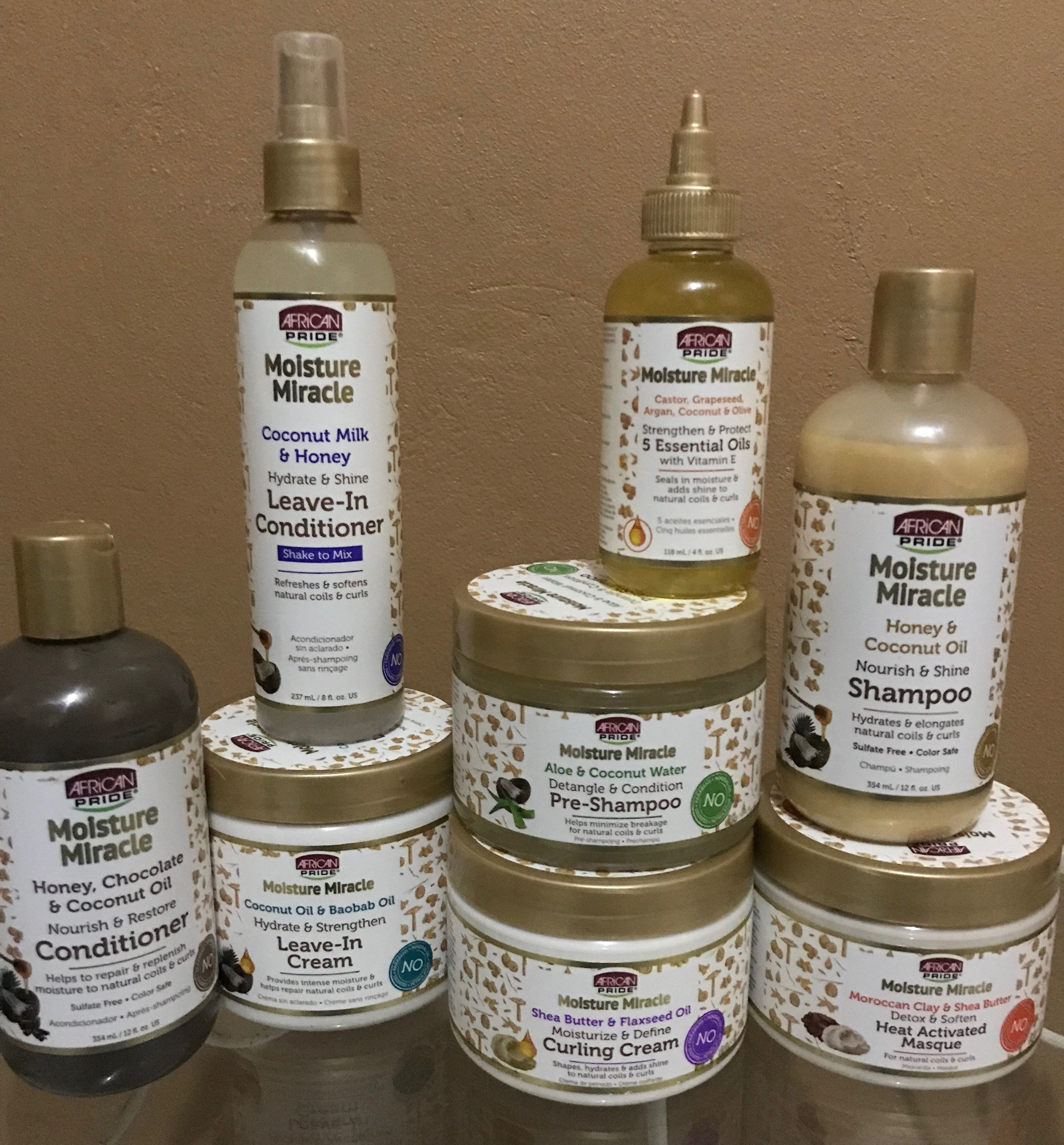 African Pride Moisture Miracle Line Natural hair styles