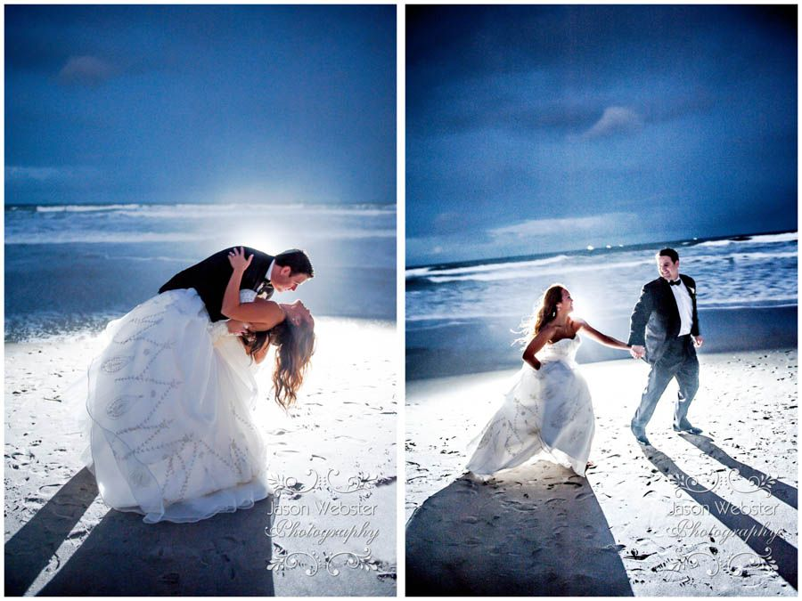 beach wedding in new jersey%0A beach wedding  night beach wedding  trash the dress  strobe lighting  destination  wedding