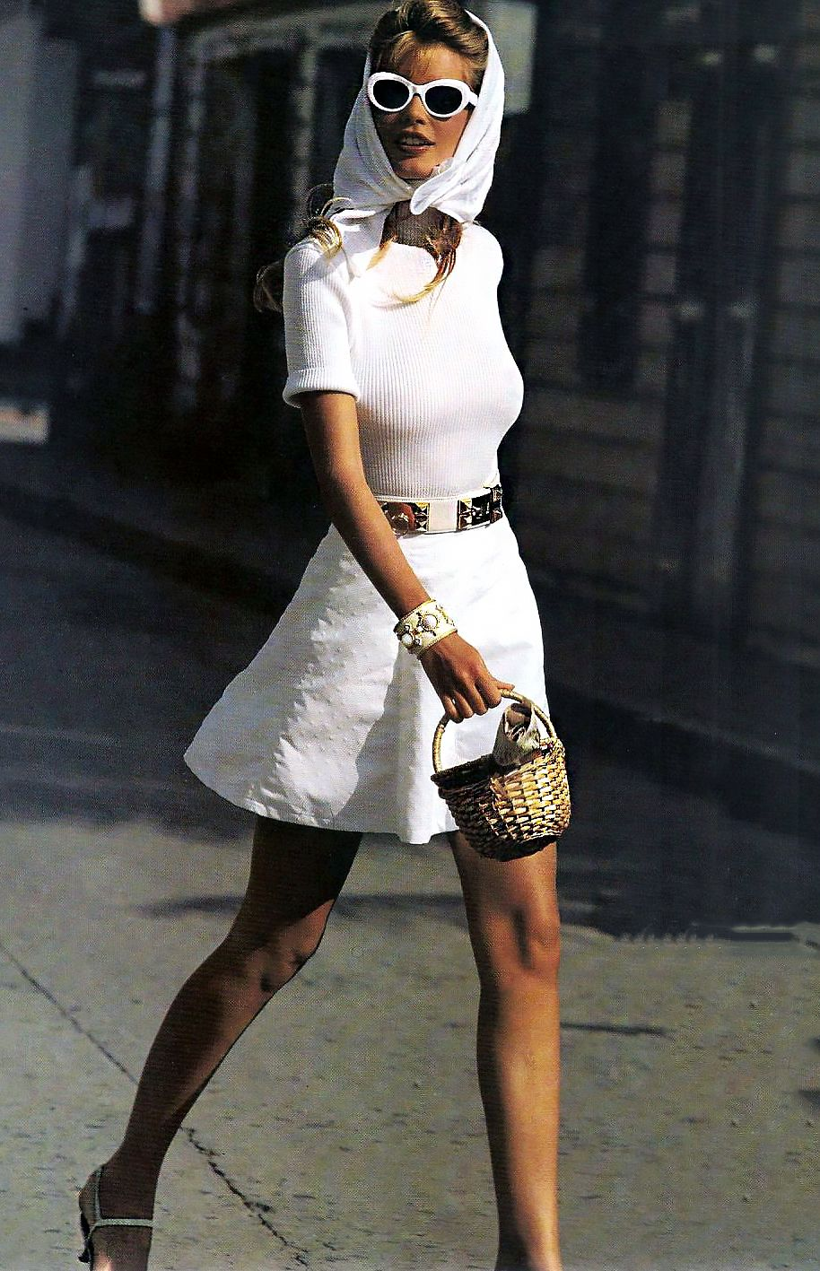 Claudia Schiffer White Washed For Us Vogue January 1992