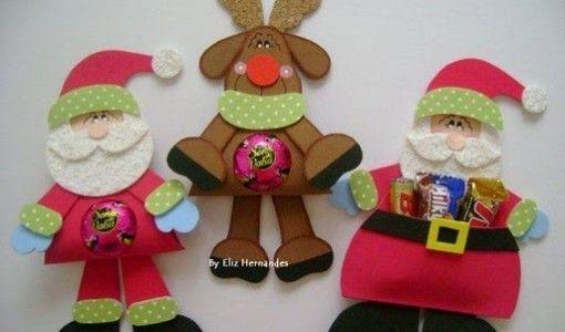 Todo en goma eva manualidades en foami y mas dulceros - Manualidades navidad goma eva ...