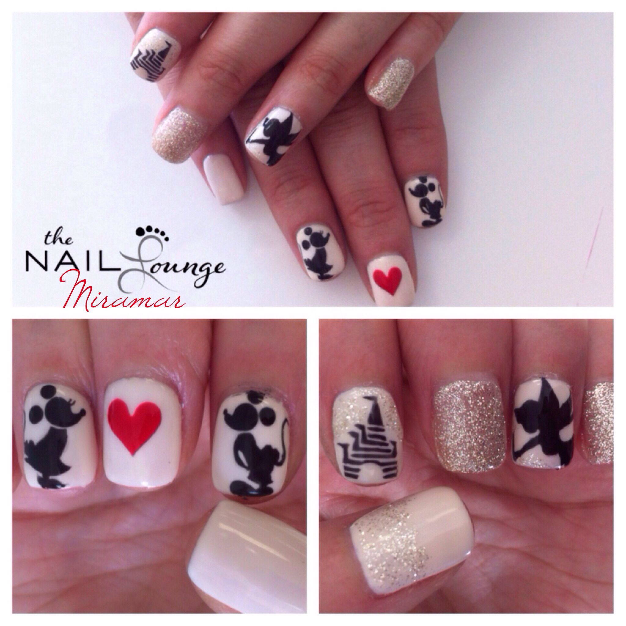 the_nail_lounge_miramar disney, Mickey Mouse, tinkerbelle, princess ...